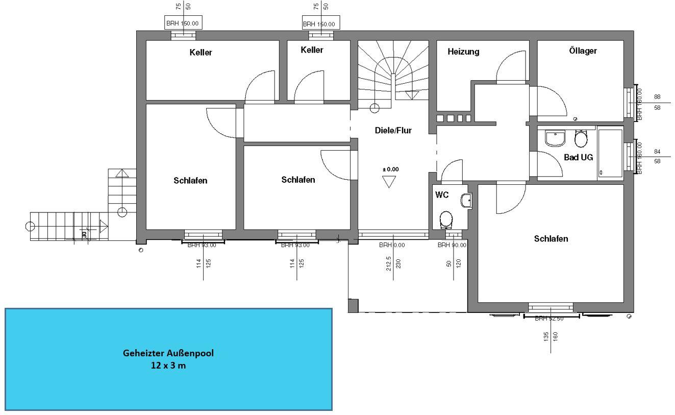Grundriss von Ferienhaus Annenberg (UG)